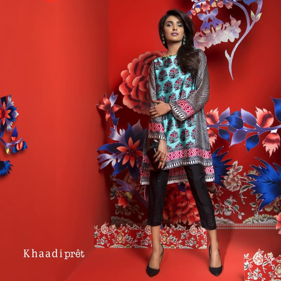 Khaadi Ready To Wear Satin Winter Collection 2018