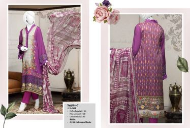 J. Summer Unstitched Lawn Collection 2018