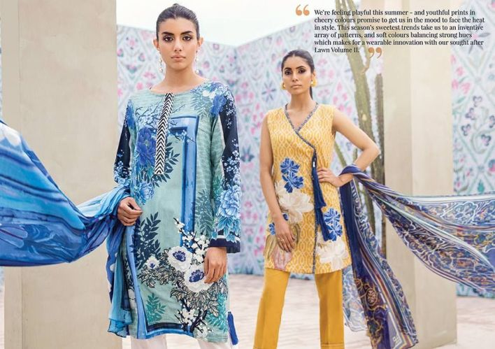Cross Stitch Eid Lawn Shalwar Kameez