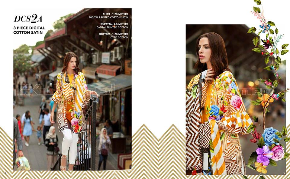 Gul Ahmed Digital Cotton Satin Ideas Collection