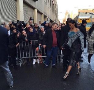 Rihanna arrives