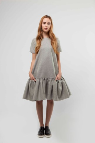 Grey Wool Dress £385