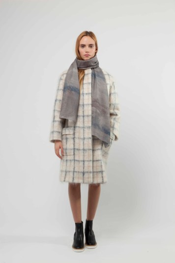 British Mohair Tartan Coat with Patch Pocket Detail £1200