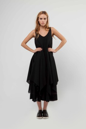 Marianne Layered Dress with Bias Cut Paneling and Raw Edge Hem Detail £550