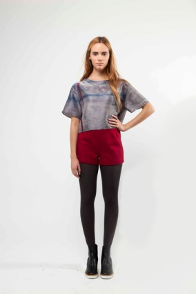 Berry Red Wool Shorts £240