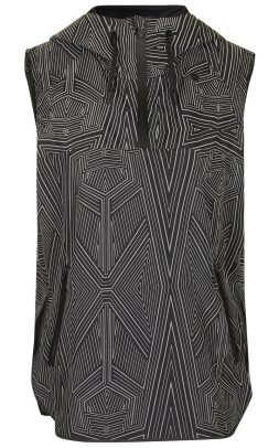 Wrap back sleeveless jacket, £115