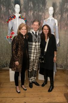 IFS 2017 presented by Mercedes-Benz_Egypt_Hannah Burns (L)_Evening Standard Head of Fashion Maurice Mullen (C)_Curator Susan Sabet (R)_Photographer Olu Ogunshakin