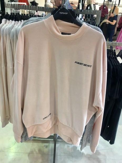 Topshop Ballet pink velour sweater