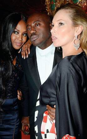 Edward Enninful with Kate Moss & Naomi Campbell