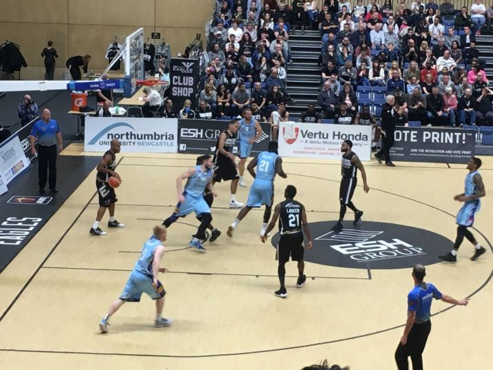 Newcastle Eagles vs Glasgow Rocks 071017 1