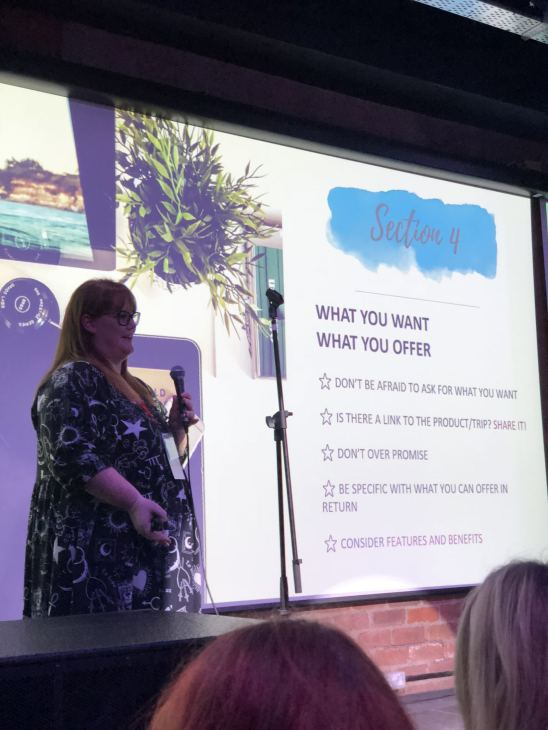 Blog at the Beach with icelolly.com Fashion Voyeur Blog Kirsty Leanne takes to the stage to talk about pitching to brands as a blogger