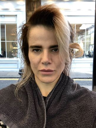 Pixie Tenenbaum at SHOW DRY Notting hill during London Fashion Week FW18 Hair is beginning to be blowdried