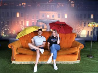An image of Blogger Pixie Tenenbaum and her little brother at Comedy Central UK's Friends Fest 2018