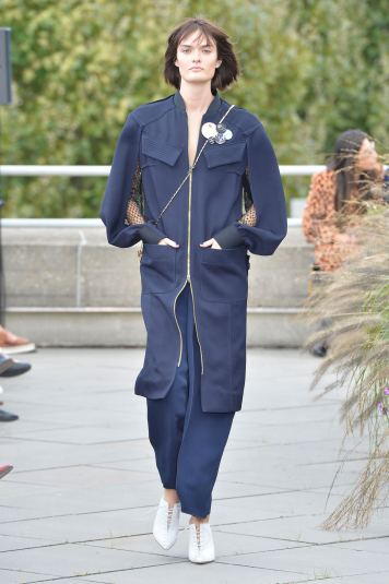 Roland Mouret SS19 LFW Fashion Voyeur Blog 1 Blue Coat