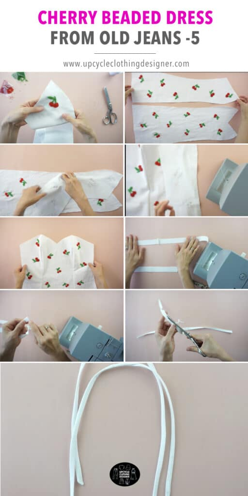 How To Sew Beads Onto Fabric : beads, fabric, Cherry, Beaded, Dress, Jeans, Fashion, Wanderer