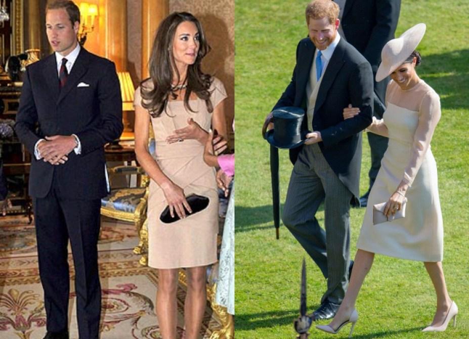 Συγκρίνουμε την Πρώτη Δημόσια Εμφάνιση της Kate και της Meghan Αμέσως Μετά τον Γάμο τους