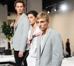 Calvin Klein white label Presents Spring 2015 Men's and Women's Lines, NYC