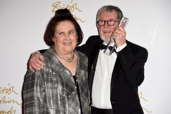 Suzy Menkes and Chris Moore
