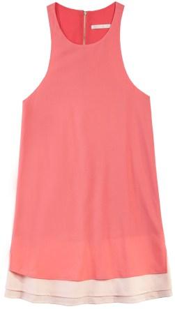 Coral Makayla Layered Dress