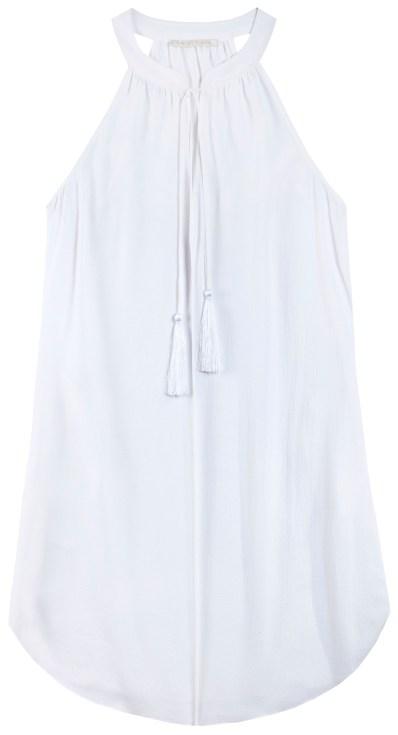 White Layla Tassel Dress