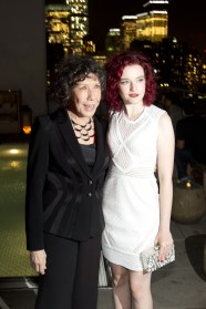 """Lily Tomlin, Julia Garner==The Cinema Society with Kate Spade and Ketel One Vodka host the after party for Sony Pictures Classics """"Grandma""""==Jimmy at the James Hotel, NYC==August 18, 2015==©Patrick McMullan==Photo - Clint Spaulding/PatrickMcMullan.com===="""
