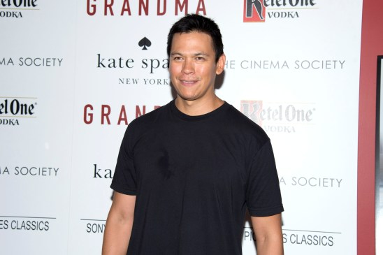 """Chaske Spencer== The Cinema Society and Kate Spade host a screening of Sony Pictures Classics """"Grandma""""== Landmark Sunshine Cinema, NYC== August 18, 2015== ©Patrick McMullan== Photo - Clint Spaulding/PatrickMcMullan.com== =="""