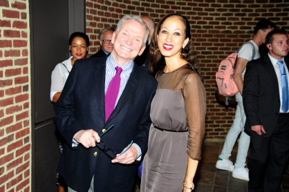 "Bob Mackie, Pat Cleveland== Time Life and The Cinema Society host a screening of ""The Carol Burnett Show: The Lost EpisodesÓ== Tribeca Grand Hotel, NYC== September 17, 2015== ©Patrick McMullan== Photo - Paul Bruinooge/PatrickMcMullan.com== =="