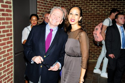 """Bob Mackie, Pat Cleveland== Time Life and The Cinema Society host a screening of """"The Carol Burnett Show: The Lost EpisodesÓ== Tribeca Grand Hotel, NYC== September 17, 2015== ©Patrick McMullan== Photo - Paul Bruinooge/PatrickMcMullan.com== =="""