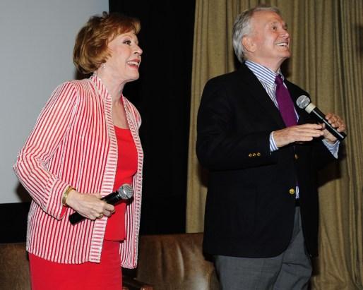 "Carol Burnett, Bob Mackie==Time Life and The Cinema Society host a screening of ""The Carol Burnett Show: The Lost EpisodesÓ==Tribeca Grand Hotel, NYC==September 17, 2015==©Patrick McMullan==Photo - Paul Bruinooge/PatrickMcMullan.com===="