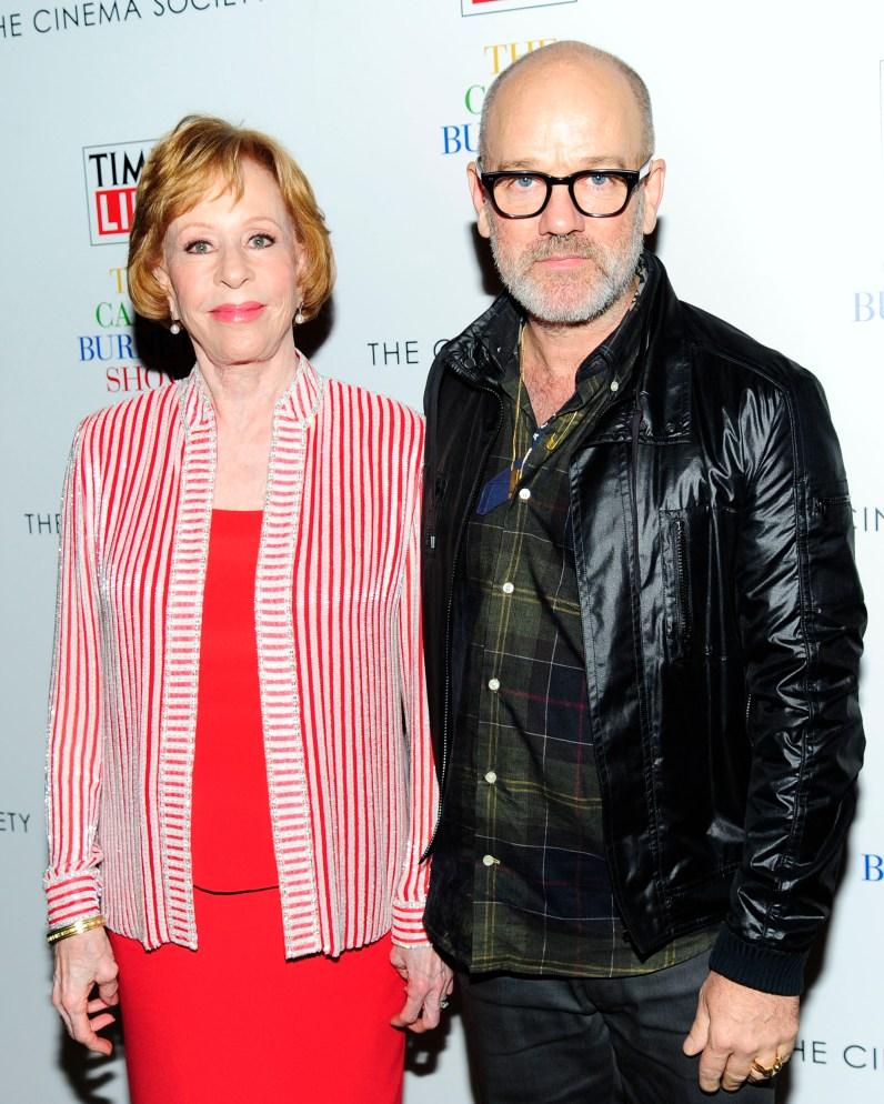 "Carol Burnett, Michael Stipe== Time Life and The Cinema Society host a screening of ""The Carol Burnett Show: The Lost EpisodesÓ== Tribeca Grand Hotel, NYC== September 17, 2015== ©Patrick McMullan== Photo - Paul Bruinooge/PatrickMcMullan.com== =="