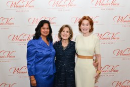 Sharmila Makhija, Dr. Patricia Allen, Mary Moss Greenebaum==Women's Voices for Change Luncheon in honor of Christy Turlington Burns, 2015 Champion For Change==Private Manhattan Club, NYC==September 21, 2015==©Patrick McMullan==Photo - Jared Siskin/patrickmcmullan.com== ==