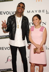NEW YORK, NY - SEPTEMBER 10: Rapper Wiz Khalifa and Co-President and Chief Creative Officer of Guggenheim Media's Entertainment Group Janice Min attend The Daily Front Row's Third Annual Fashion Media Awards at the Park Hyatt New York on September 10, 2015 in New York City. (Photo by Rommel Demano/Getty Images for The Daily Front Row)