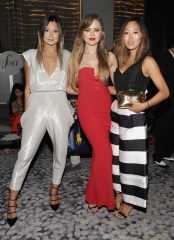 NEW YORK, NY - SEPTEMBER 10: (L-R) Bloggers Danielle Bernstein, Kristina Bazan, and Aimee Song attend The Daily Front Row's Third Annual Fashion Media Awards at the Park Hyatt New York on September 10, 2015 in New York City. (Photo by Rommel Demano/Getty Images for The Daily Front Row)