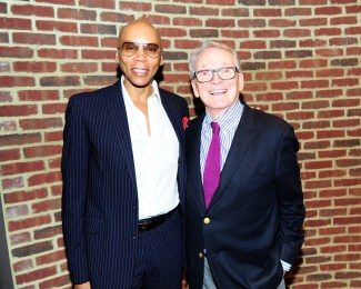 "RuPaul, Bob Mackie== Time Life and The Cinema Society host a screening of ""The Carol Burnett Show: The Lost EpisodesÓ== Tribeca Grand Hotel, NYC== September 17, 2015== ©Patrick McMullan== Photo - Paul Bruinooge/PatrickMcMullan.com== =="