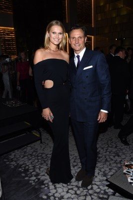 NEW YORK, NY - SEPTEMBER 10: Model Toni Garrn and actor Tony Goldwyn attend The Daily Front Row's Third Annual Fashion Media Awards at the Park Hyatt New York on September 10, 2015 in New York City. (Photo by Larry Busacca/Getty Images for The Daily Front Row)