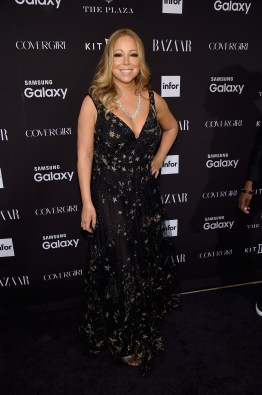 NEW YORK, NY - SEPTEMBER 16: Mariah Carey attends the 2015 Harper's BAZAAR ICONS Event at The Plaza Hotel on September 16, 2015 in New York City. (Photo by Jamie McCarthy/Getty Images)
