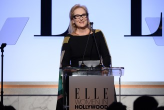 LOS ANGELES, CA - OCTOBER 19: Actress Meryl Streep speaks onstage during the 22nd Annual ELLE Women in Hollywood Awards presented by Calvin Klein Collection, L'Oréal Paris, and David Yurman at the Four Seasons Los Angeles at Beverly Hills on October 19, 2015 in Beverly Hills, California. (Photo by Michael Kovac/Getty Images)