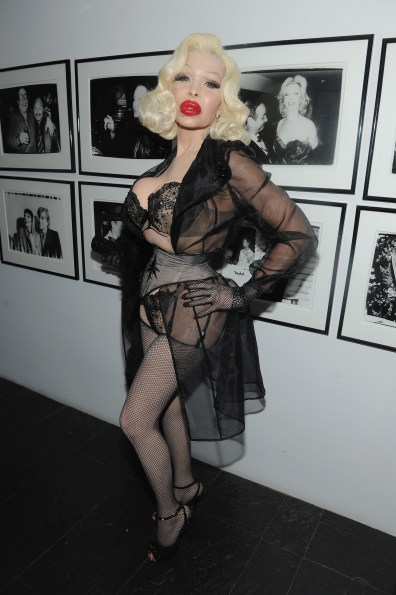NEW YORK, NY - OCTOBER 24: Amanda Lepore attends as Dean and Dan Caten celebrate their one year U.S. retail anniversary with a private party at The Halston House on October 24, 2015 in New York City. (Photo by Craig Barritt/Getty Images for DSQUARED2)