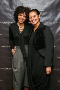 Stacey Scarpone, Sonja Nuttall==Donna Karan's 'My Journey' book release party==Urban Zen, NYC==October 14, 2015==©Patrick McMullan==photo - J Grassi/PatrickMcMullan.com====