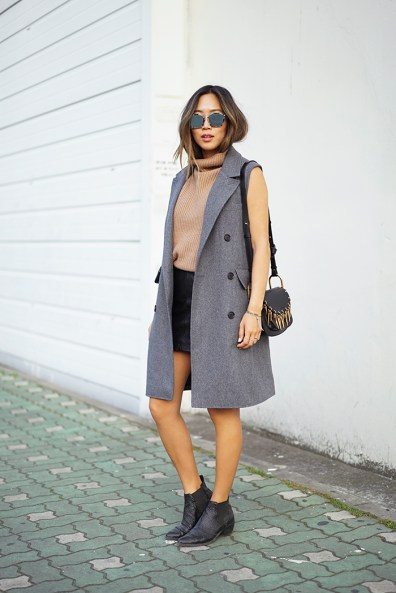 aimee_song_of_stye_gray_sleeveless_coat_vince_turtleneck_sweater_dior_sunglasses