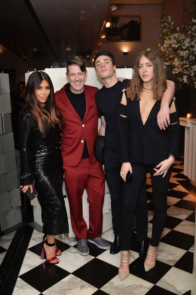 Kim Kardashian West, Eddie Roche, Remi Barbier and Sama Khadra