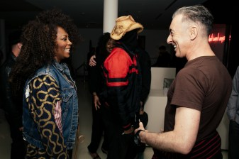 Jody Watley and Alan Cumming attend Giorgio's Chapter 2 - The New Sound presented by Bryan Rabin and Adam Bravin at The Standard Hotel Hollywood on Saturday, April 9th, 2016 in Los Angeles, CA (Tyler Curtis/ @tyliner)