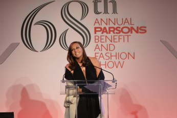 NEW YORK, NY - MAY 23: Designer Donna Karan speaks onstage during the 2016 Parsons Benefit at Chelsea Piers on May 23, 2016 in New York City. (Photo by Andrew Toth/Getty Images for Parsons School of Design/The New School)
