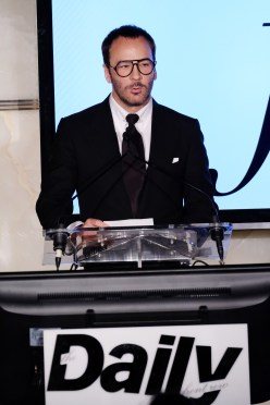 NEW YORK, NY - SEPTEMBER 08: (EXCLUSIVE ACCESS, SPECIAL RATES APPLY) Designer Tom Ford speaks at The Daily Front Row's 4th Annual Fashion Media Awards at Park Hyatt New York on September 8, 2016 in New York City. (Photo by Larry Busacca/Getty Images)
