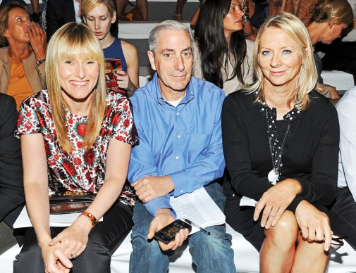 Cavaco at Fashion Week with Amy Astley and Linda Wells