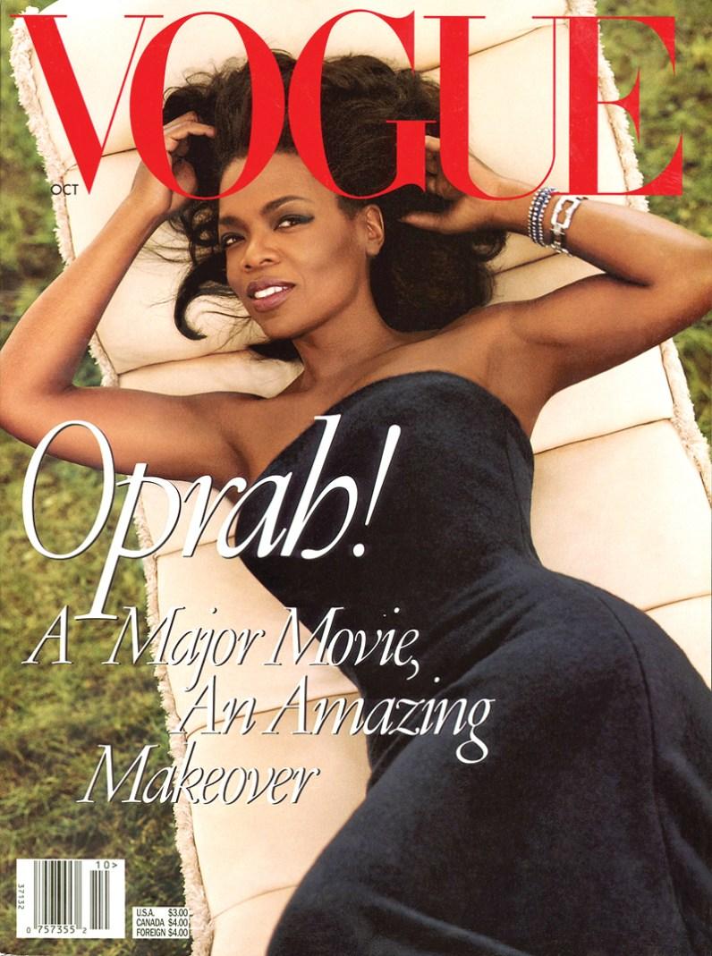 Oprah Winfrey's October 1998 cover of Vogue