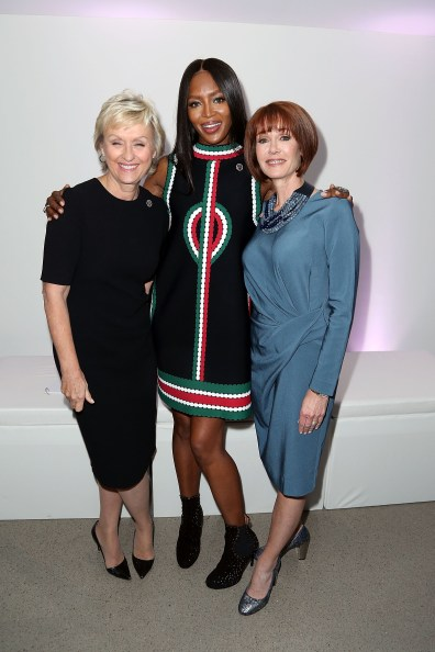 Tina Brown, Naomi Campbell, Lynn Posluns== VIP Evening of Conversation for Women's Brain Health Initiative, Moderated by Tina Brown== Spring Studios, NYC== October 18, 2016== ©Patrick McMullan== Photo - Jimi Celeste/PMC== ==