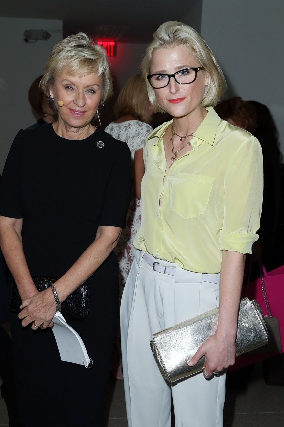 Tina Brown, Mamie Gummer== VIP Evening of Conversation for Women's Brain Health Initiative, Moderated by Tina Brown== Spring Studios, NYC== October 18, 2016== ©Patrick McMullan== Photo - Jimi Celeste/PMC== ==