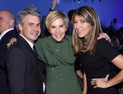 NEW YORK, NY - OCTOBER 17: Richard Sinnott, Lisa Pomerantz, and Nina Garcia attend the God's Love We Deliver Golden Heart Awards on October 17, 2016 in New York City. (Photo by Dimitrios Kambouris/Getty Images for Michael Kors)