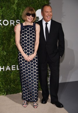 NEW YORK, NY - OCTOBER 17: Editor-in-Chief at Vogue Anna Wintour and fashion designer Michael Kors attend the God's Love We Deliver Golden Heart Awards on October 17, 2016 in New York City. (Photo by Dimitrios Kambouris/Getty Images for Michael Kors)
